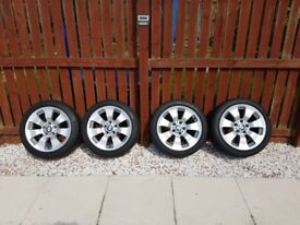 BMW Genuine 17 alloy wheels with run flat tyres 225/45/17