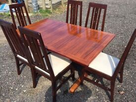 REDUCED! Lovely solid wooden table with chairs