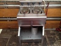 CATERING COMMERCIAL TWIN FRYER FAST FOOD RESTAURANT TAKE AWAY KITCHEN BAR
