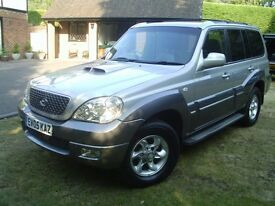 HYUNDAI TERRACAN 2.900 TURBO DIESEL 5 SPEED MANUAL FULL LEATHER 2006 4 NEW TYRES