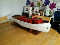 Radio controlled model tug boat