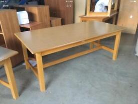 Large oak veneer table
