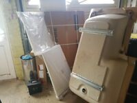 1500mm P shape bath with screen and panel new
