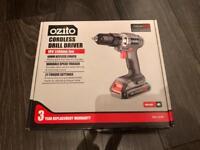 Ozito Cordless Drill Driver 18V Li-Ion Battery