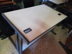 1200 mm light grey office desks