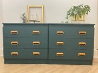 Upcycled chest of drawers x2