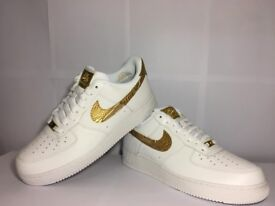 "Nike Air Force1 CR7 ""Golden Patchwork"" UK Size 10"