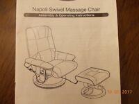 Swivel Massage Chair - Restwell Napoli