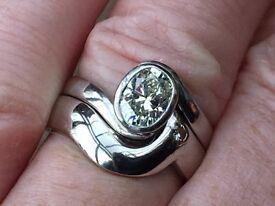 Two platinum 950 diamond rings 1.25ct 14.3 grams!