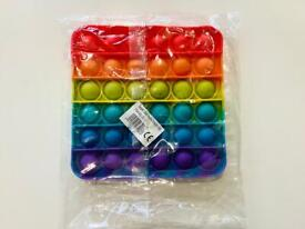 Rainbow pop it square stress reliever for kid and adults