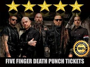 Breaking Benjamin and Five Finger Death Punch Tickets | Last Minute Delivery Guaranteed!