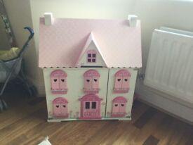 ELC rosebud wooden dolls house inc furniture