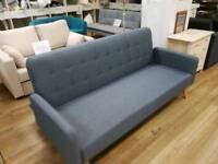 Grey fabric sofabed with button design