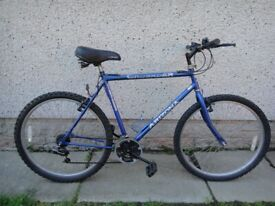 Crusader Arizona bike, 26 inch wheels, 18 gears, 22 inch frame suit 6 ft tall approx
