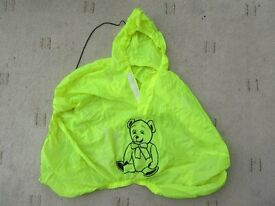 Rain cover for child's bike seat