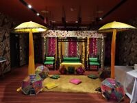 Asian Stage Decor, Chair Covers, Centrepieces