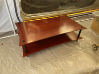 Solid Wood TV Table or Coffee Table Two Tier Cherry