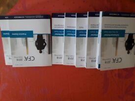 2019 CFA Level 1 & 2 Schweser Hardcopy Books + Video