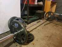 Olympic 6ft bar with weights