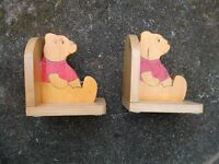 WINNIE THE POOH BOOK ENDS.