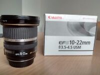 Used canon EF-S 10-22mm lens
