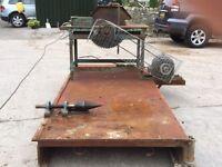 Table Saw & Cone Log Splitter