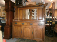 ARTS & CRAFTS OAK SIDEBOARD CHIFFONIER IN YEOVIL SHABBY CHIC / UP CYCLE