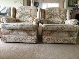 2 highback armchairs for free