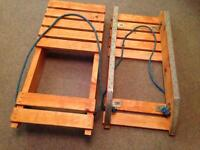 Sledges, two wooden ones for sale