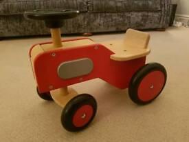 ELC wooden ride on tractir