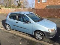 Fiat Punto 1.2L, petrol, blue.