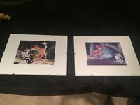 2 Framed Bambi Pictures