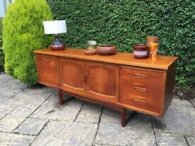 JENTIQUE Sideboard 1970s Vintage retro SOLID WOOD Mid Century