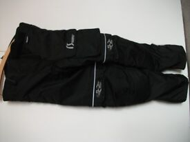 Textile armoured motorcycle trousers