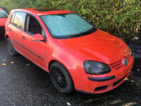 VW GOLF 1.6 FSI PETROL MK5 RED MANUAL 2004 'BREAKING' ALL PARTS FOR SALE