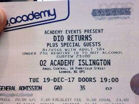 DIO RETURNS Tickets - Standing @ £18 [face value £23 + PP]