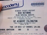 DIO RETURNS Tickets - Standing @ £15 [face value £23 + PP]