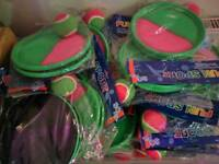 Job lot of 500+ new child's catch velcro ball games