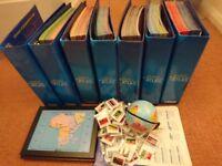 Educational Atlas Map Collection (w/ flag badges, frames & globe)