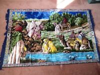 IN KINGS LYNN-LARGE COLOURFUL TAPESTRY WALL HANGING RUG