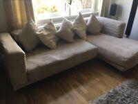 Corner sofa, washable good condition £100