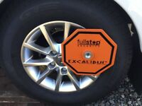 Fullstop Excalibur caravan wheel clamp