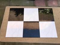 Ceramic Floor Tiles. Black and White 12 x 12 inches