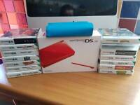 Ds lite boxed with 14 games and case