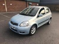 2004/54 TOYOTA YARIS 1.3 FULL TOYOTA SERVICE HISTORY 2 LADY OWNERS 5 DOORS LO...