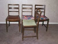 Retro wooden chairs.