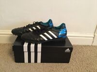 Adidas 11questra Astro Boots Black/Blue - Size 8