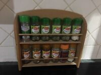 2 wooden spice racks for sale
