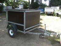 GALVANISED 4 X 4 X 3 BOX TRAILER 500KG VERY STRONG TRAILER........