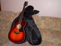 Yamaha Acoustic Guitar FS740SFM Vintage cherry maple & padded Case